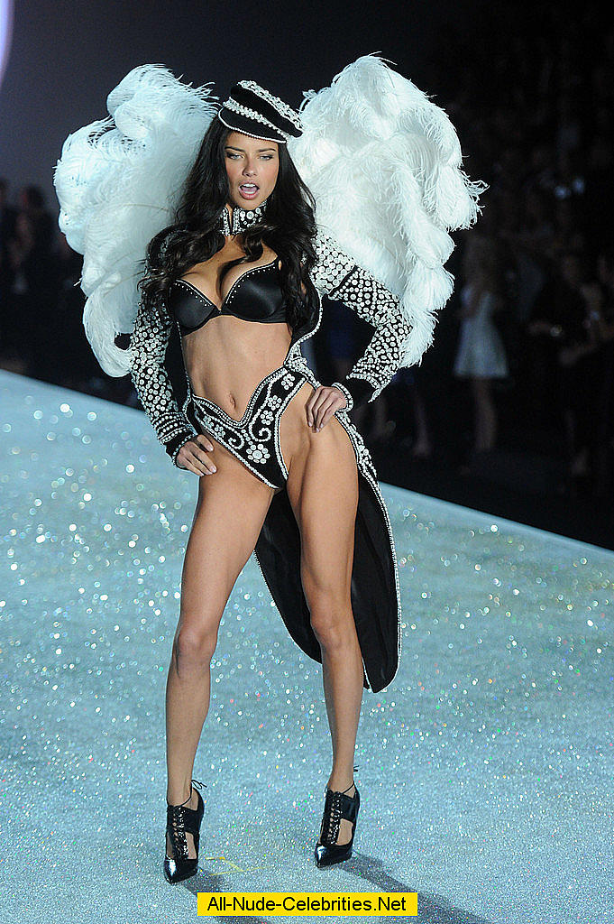 Adriana Lima Sexy At Vs Fashion Show