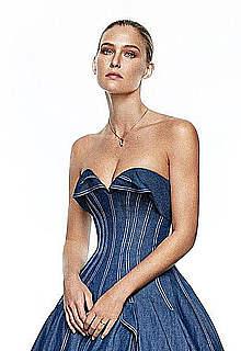 Bar Refaeli posing for Elle Spain magazine
