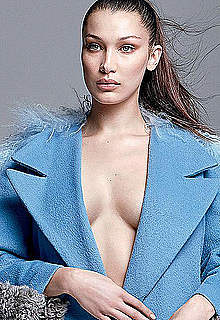 Bella Hadid sexy and see through mag scans