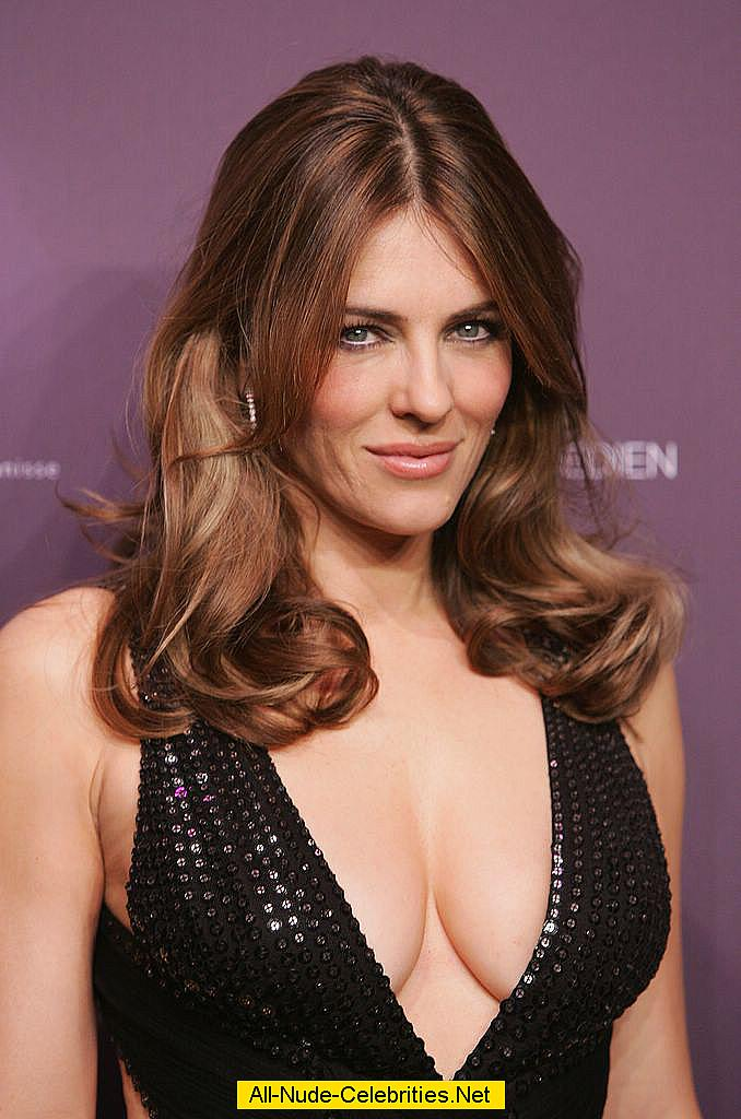 Elizabeth hurley deep cleavage and see through paparazzi shots