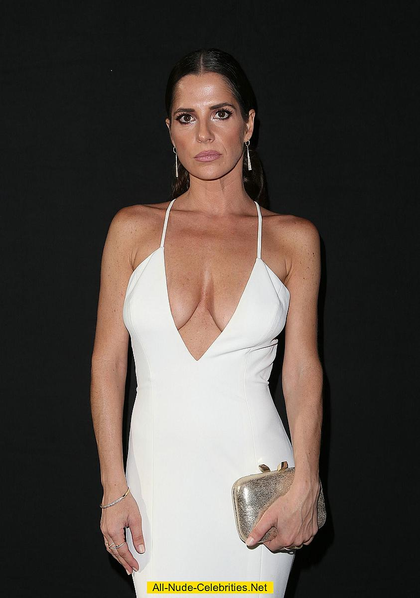 kelly monaco sexy in white low cut dress at 44th annual