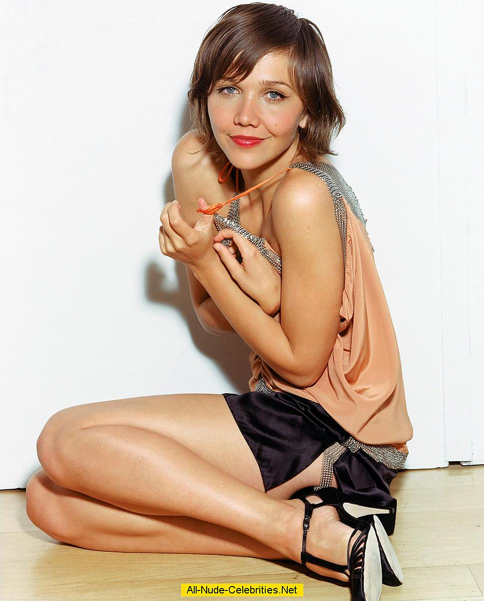 Maggie Gyllenhaal sexy posing scans from mags