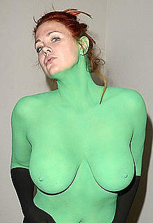 Maitland Ward fully nude body painted photos