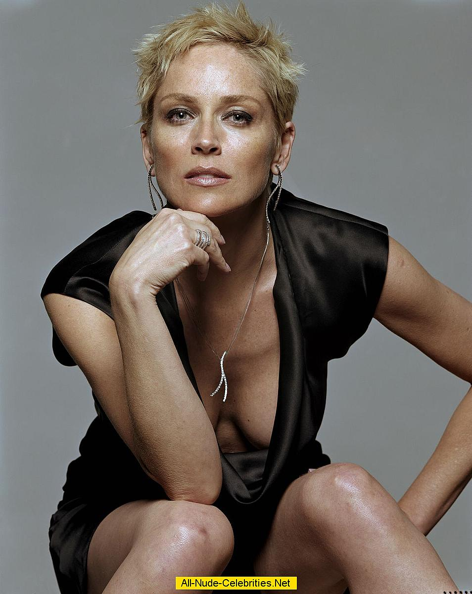 sharon stone non nude posing scans from magazines